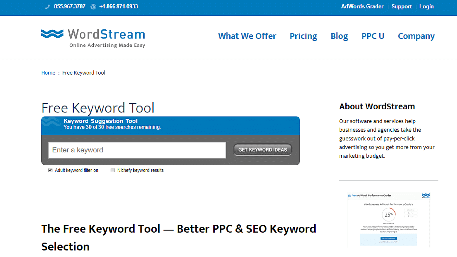 google adwords tools   10 free 10 paid alternatives