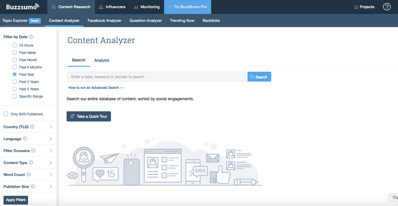 Quintly alternatives: BuzzSumo